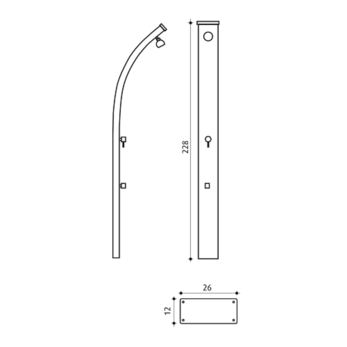 Spring A122 Aluminium buitendouche